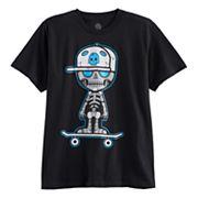 Boys 8-20 Skully Robot Tee