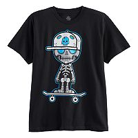 Boys 8-20 Skully Robot Tee