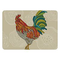Bungalow Flooring Colorful Rooster Indoor Outdoor Comfort Mat - 22'' x 31''