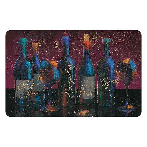 Bungalow Flooring Wine Splash Indoor Outdoor Comfort Mat - 22'' x 31''