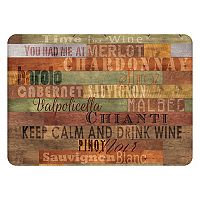 Bungalow Flooring Wooden Wine Indoor Outdoor Comfort Mat - 22'' x 31''