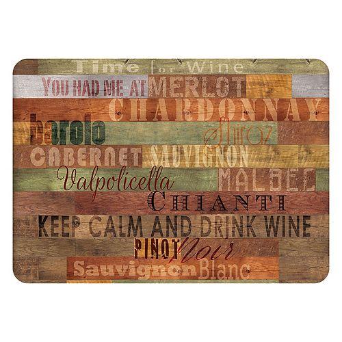 Bungalow Flooring Wooden Wine Indoor Outdoor Comfort Mat - 22'' x 31''