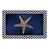 Bungalow Flooring Starfish Wish Indoor Outdoor Comfort Mat - 22'' x 31''