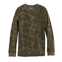 Boys 8-20 Urban Pipeline Camouflage Thermal Tee