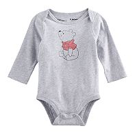 Disney's Winnie the Pooh Baby Boy Light Gray Bodysuit by Jumping Beans®