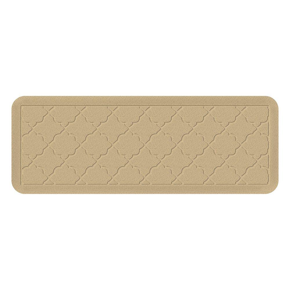 Bungalow Flooring Heavenly Onyx Trellis Indoor Outdoor Comfort Mat Runner - 22'' x 60''