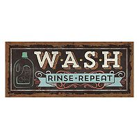 Bungalow Flooring ''Wash, Rinse, Repeat'' Laundry Indoor Outdoor Mat Runner - 25'' x 60''