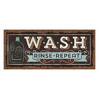 Bungalow Flooring ''Wash, Rinse, Repeat'' Laundry Indoor Outdoor Mat Runner - 25'' x 60''