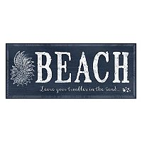 Bungalow Flooring ''Leave Your Troubles'' Indoor Outdoor Mat Runner - 25'' x 60''