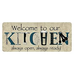 Bungalow Flooring ''Welcome to Our Kitchen'' Indoor Outdoor Mat Runner - 22'' x 52''