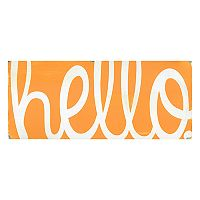 Bungalow Flooring ''Hello'' Indoor Outdoor Mat Runner - 25'' x 60''