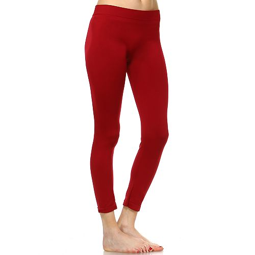 Women's White Mark Solid Leggings