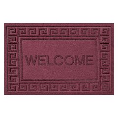 WaterGuard Greek Key ''Welcome'' Indoor Outdoor Mat - 24'' x 36''