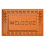 WaterGuard Greek Key ''Welcome'' Indoor Outdoor Mat - 24'' x 36''