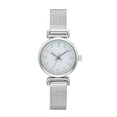 Women's Crystal Accent Mesh Band Watch