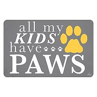 Bungalow Flooring ''All My Kids Have Paws'' Indoor Outdoor Mat - 24'' x 36''