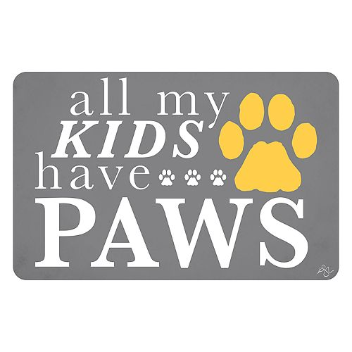 Bungalow Flooring ''All My Kids Have Paws'' Indoor Outdoor Mat - 24'' x 36''