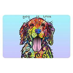 Bungalow Flooring ''Dog is Love'' Indoor Outdoor Mat - 24'' x 36''