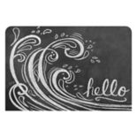 Bungalow Flooring Wave ''Hello'' Indoor Outdoor Mat - 24'' x 36''
