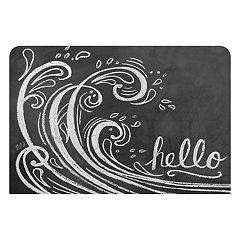 Bungalow Flooring Wave ''Hello'' Indoor Outdoor Mat - 24'' x 36''