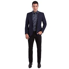 Men's Nick Graham Slim-Fit Navy Textured Sport Coat
