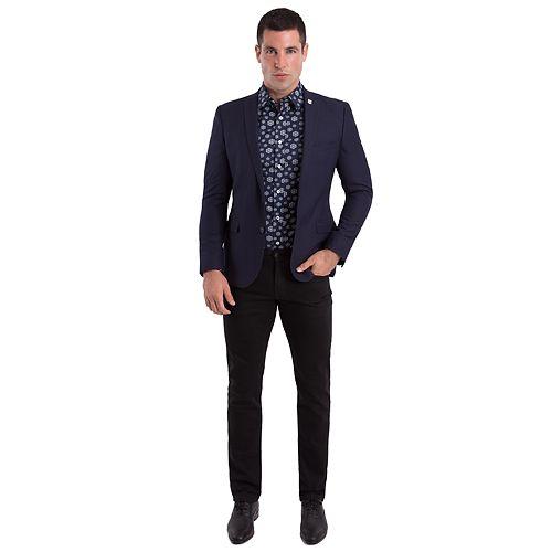 Men's Nick Graham Slim-Fit Navy Textured Sport Coat