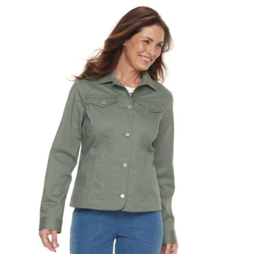 Womens Croft Barrow Button Down Jacket