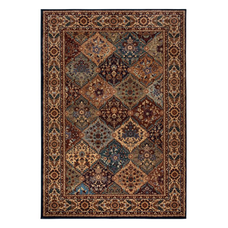 Rizzy Home Bellevue Framed Floral Rug, Multicolor