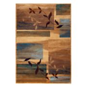 Rizzy Home Bellevue Abstract Leaf Rug