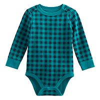 Baby Boy Jumping Beans® Plaid Thermal Bodysuit
