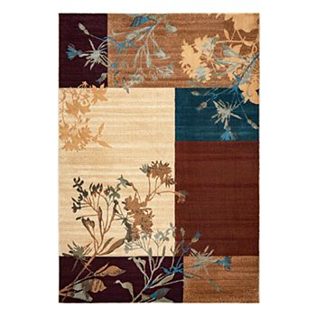 Rizzy Home Bellevue Block Floral Rug