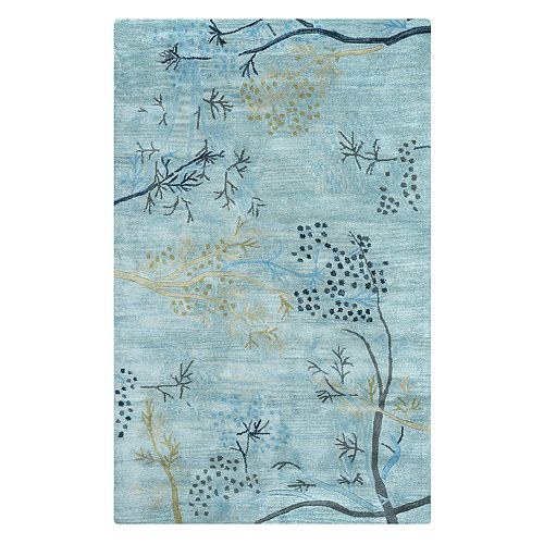 Rizzy Home Craft Floral Branch Wool Rug