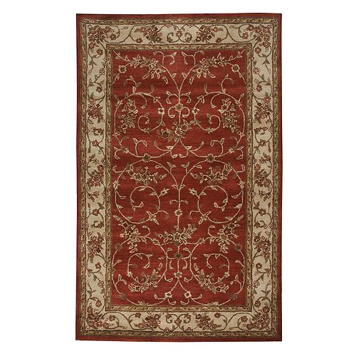 Rizzy Home Craft Framed Floral Wool Rug