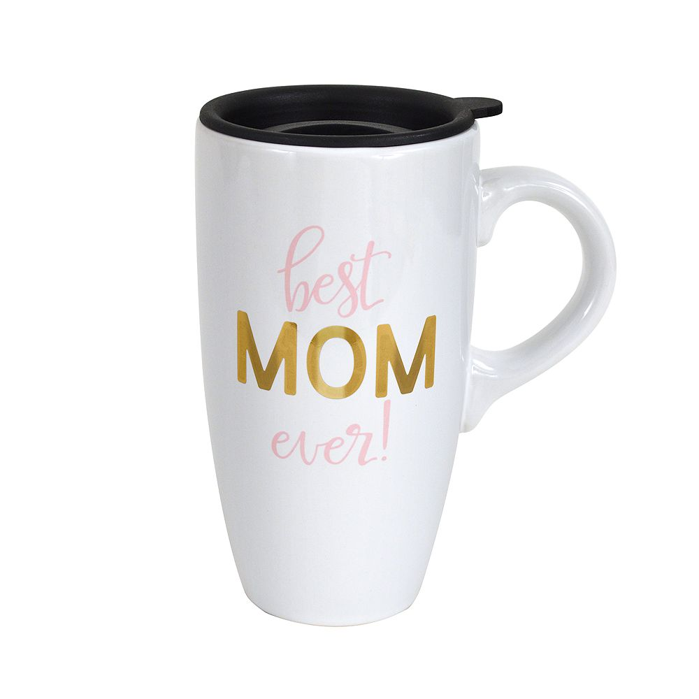 "Enchante ""Best Mom Ever"" Lidded Travel Mug"