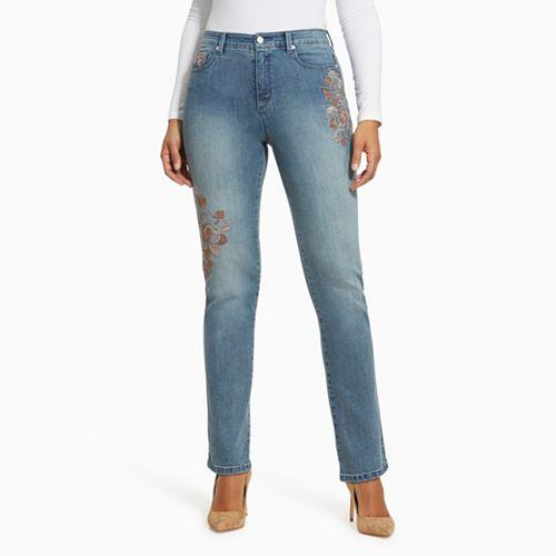 657aef06a1f66a Women's Gloria Vanderbilt Amanda Embroidered Jeans