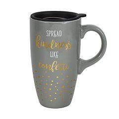 Enchante Kindness Confetti Lidded Travel Mug