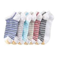 Women's GOLDTOE 6-pk. French Stripe Soft Liner Socks + Plus Bonus Pair