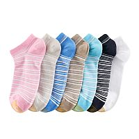 Women's GOLDTOE 6 pkFrench Stripe Soft Liner Socks + Plus Bonus Pair