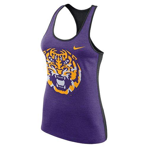 Women's Nike LSU Tigers Dri-FIT Touch Tank Top