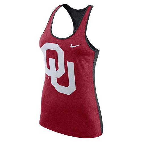 Women's Nike Oklahoma Sooners Two-Tone Tank Top