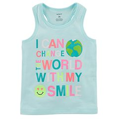 Girls 4-8 Carter's 'I Can Change The World With My Smile' Tank Top