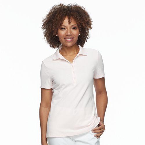 Petite Croft & Barrow® Essential Short Sleeve Polo