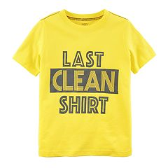 Toddler Boy Carter's 'Last Clean Shirt' Graphic Tee