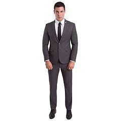 Men's Nick Graham Slim-Fit Plaid Unhemmed Suit