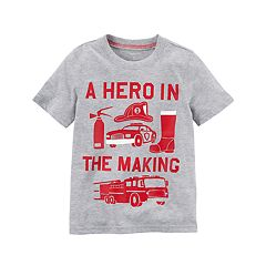Toddler Boy Carter's 'A Hero In The Making' Fire Themed Graphic Tee