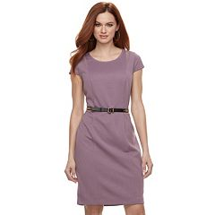 Women's Jennifer Lopez Textured Mesh Sheath Dress