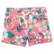Girls 4-8 Carter's Flowers French Terry Shorts