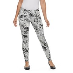 Women's Utopia by HUE Countryside Bouquet Jean Skimmer Leggings