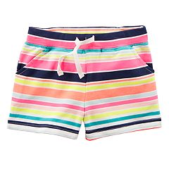 Girls 4-8 Carter's Striped Pull-On Shorts