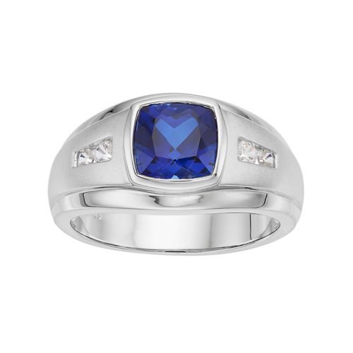 Blue Sapphire Ring For Men Price Men's Sterling Silver ...